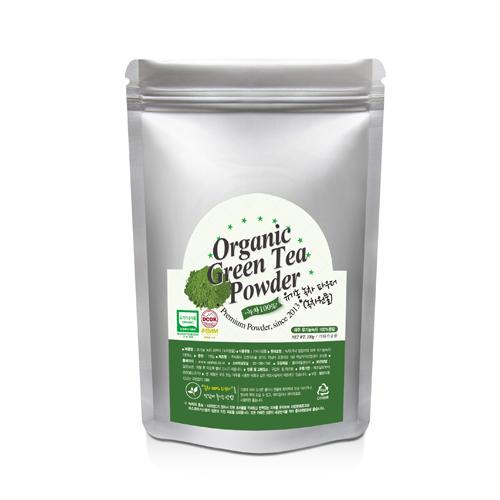 (오렌지피플) 유기농 녹차가루 100% (제주산)
