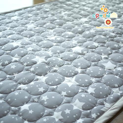 [코트니홈] 패드 / 작은별 그레이 (100x150cm)